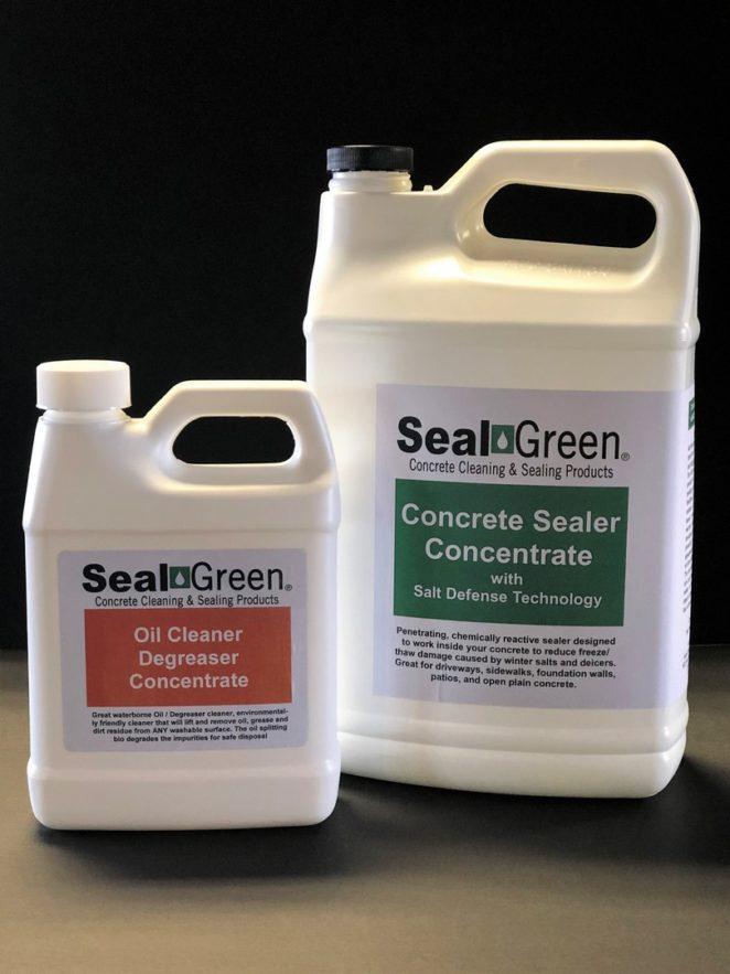 SealGreen Oil Cleaner and Concrete Sealer Bundle